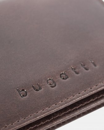 VOLO - leather card case with anti-theft protection - Brown - Bugatti