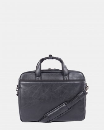 "Valentino - briefcase for 15.6"" laptop with Removable and adjustable shoulder strap - Black  Bugatti"