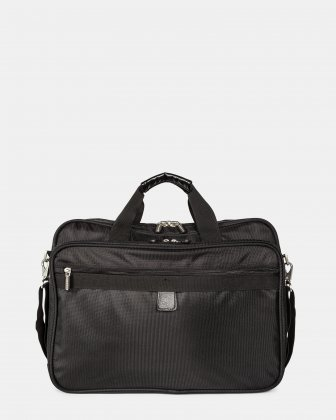 "Gregory - Briefcase for 17.3"" laptop with Exterior zippered pocket - Black  Bugatti"