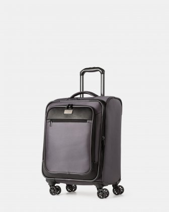 "Boston - Lightweight Softside Carry-on with 15.6"" laptop compartment - Charcoal - Bugatti"