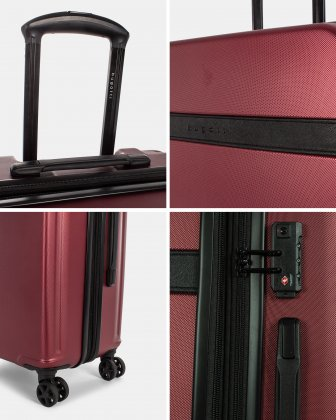 ROME - Resistant ABS Hardside Carry-on with Integrated USB port - wine Bugatti