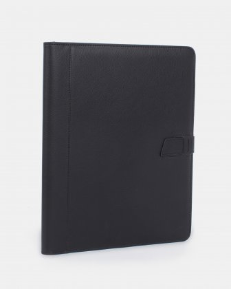 BUGATTI - Writing Case with tab closure and organizational sections - BLACK Bugatti