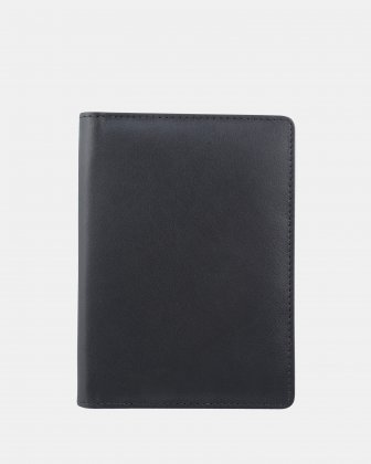 Bugatti - Passport holder with RFID protection - Black Bugatti