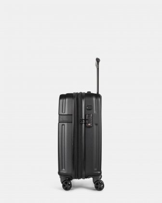 ROME - resistant ABS Hardside Carry-on with Integrated USB port - Black Bugatti