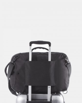 "Traveller - CONVERTIBLE BACKPACK/briefcase for 15.6"" laptop with Back compartment - Charcoal   Bugatti"