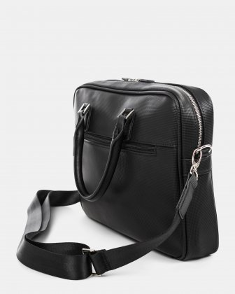"""Pure - LADIES EXECUTIVE BRIEFCASE with Padded laptop section for 15.6"""" - Black  - Bugatti"""