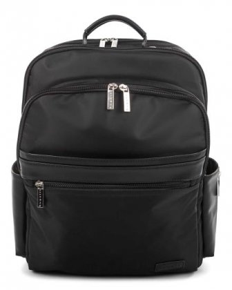 "Moretti - Backpack with Padded laptop compartment for 15.6"" + RFID protection - Black  - Bugatti"