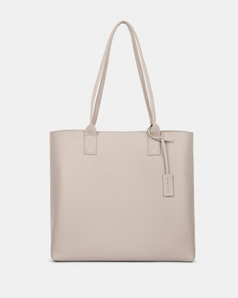 "PURE - VEGAN LEATHER BUSINESS TOTE BAG for 14"" laptops or tablet - CREAM Bugatti"