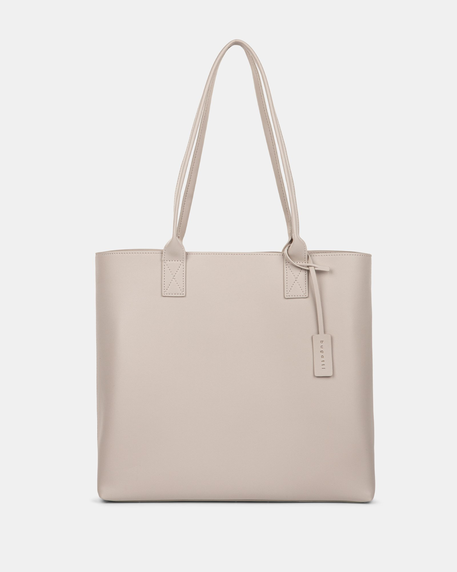 """PURE - VEGAN LEATHER BUSINESS TOTE BAG for 14"""" laptops or tablet - CREAM - Bugatti - Zoom"""