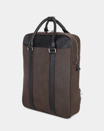 "BALANCE - BACKPACK FOR 14"" LAPTOP with Adjustable and removable straps - BROWN  Bugatti"