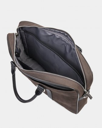 BALANCE - BRIEFCASE FOR 14 IN LAPTOP with Adjustable and removable strap - BROWN  - Bugatti