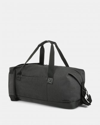 TRAVELLER - DUFFLE BAG with Adjustable and detachable shoulder strap - CHARCOAL Bugatti