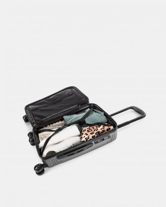 NASHVILLE - HARDSIDE CARRY-ON in 100% recycled plastic with TSA lock - Charcoal Bugatti