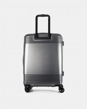"NASHVILLE - 25.75"" HARDSIDE LUGGAGE in 100% recycled plastic with TSA lock - Charcoal - Bugatti"