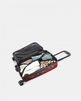 NASHVILLE - HARDSIDE CARRY-ON in 100% recycled plastic with TSA lock - Red Bugatti