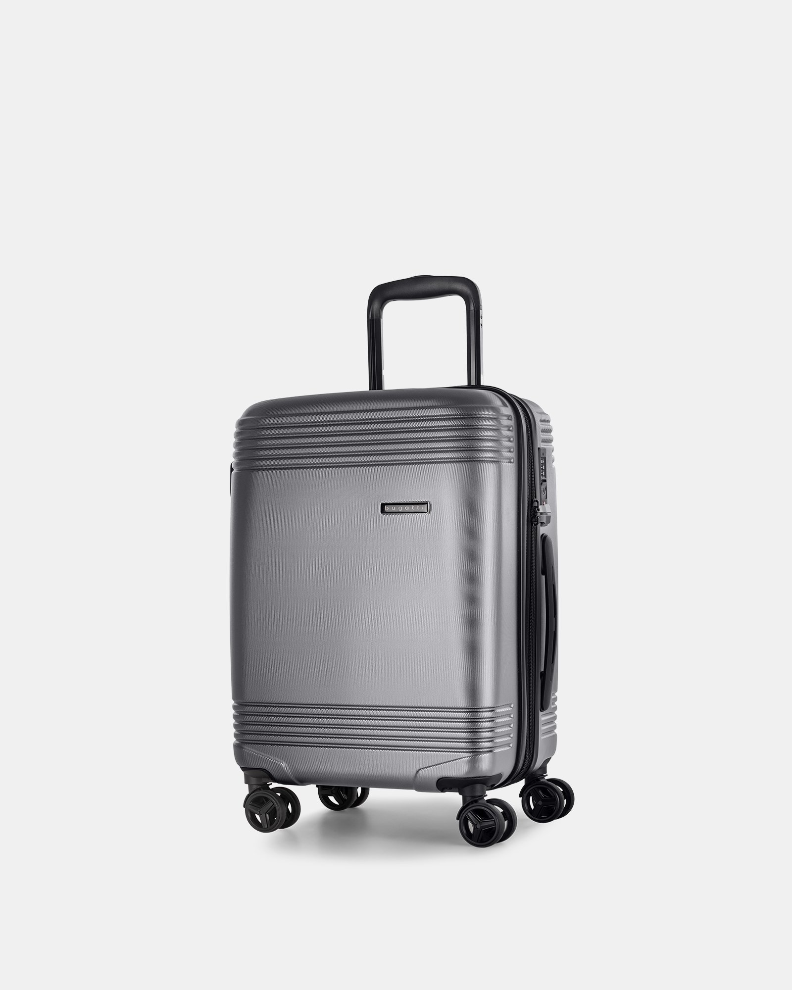 NASHVILLE - HARDSIDE CARRY-ON in 100% recycled plastic with TSA lock - Charcoal - Bugatti - Zoom