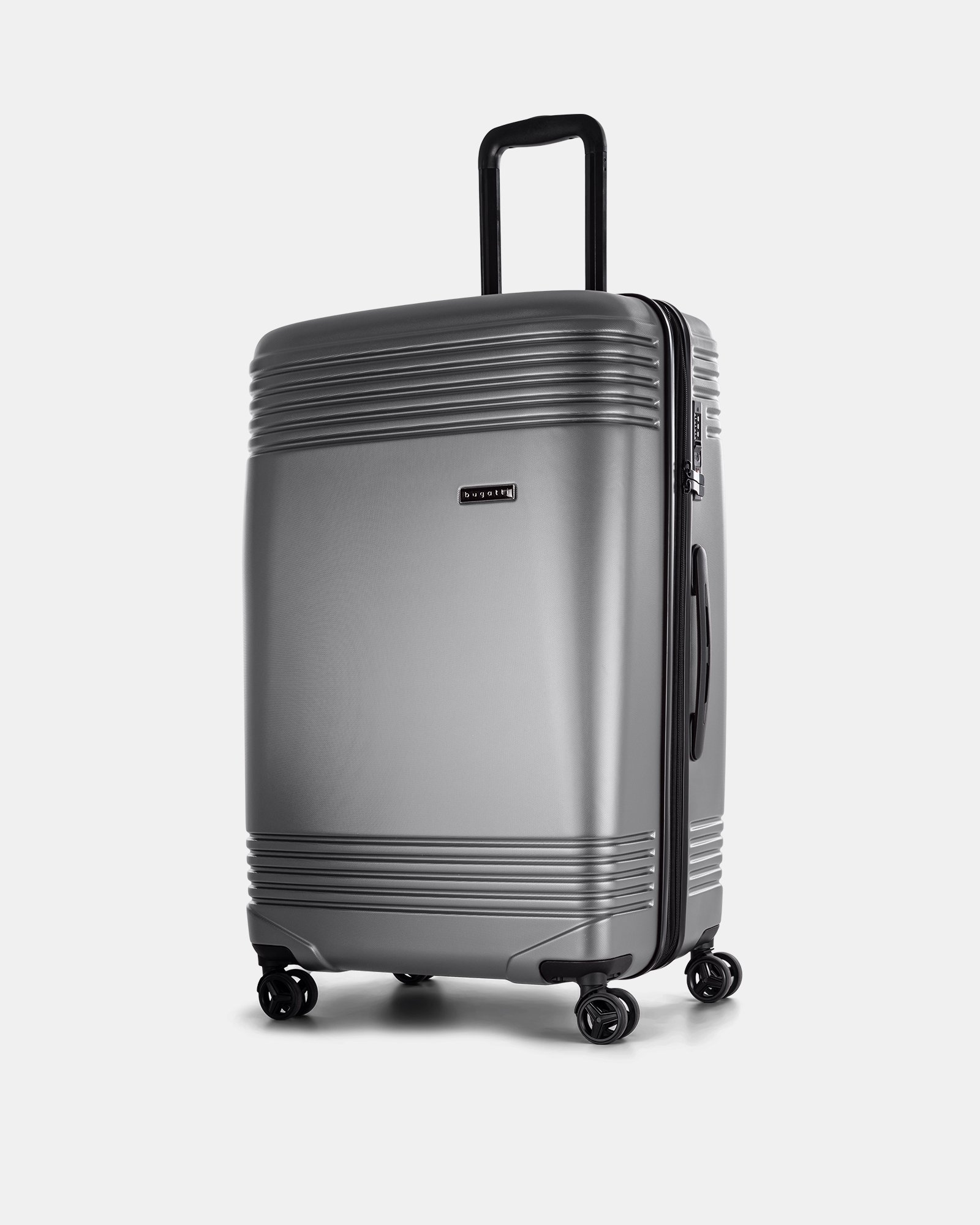 "NASHVILLE - 30"" HARDSIDE LUGGAGE in 100% recycled plastic with TSA lock - Charcoal - Bugatti - Zoom"
