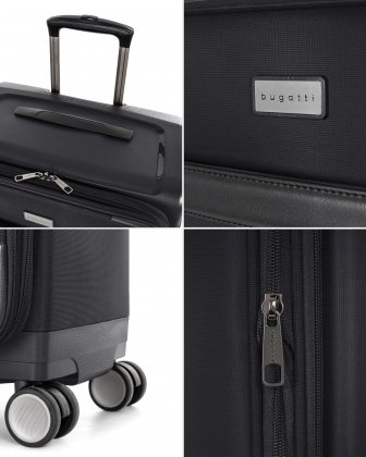 "WASHINGTON -  29"" HYBRID CARRY-ON HARDSIDE/SOFTSIDE - Black - Bugatti"