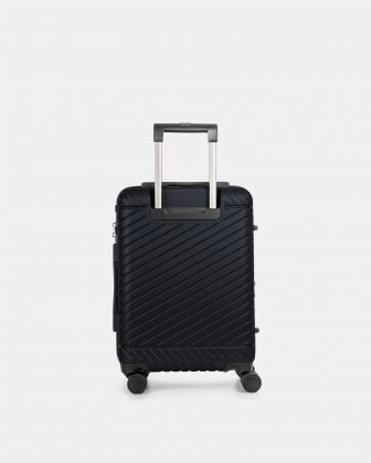"MOSCOW -  20.75"" HARDSIDE CARRY-ON 100% POLYCARBONATE WITH TSA LOCK - NAVY - Bugatti"