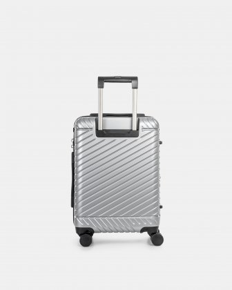 """MOSCOW -  20.75"""" HARDSIDE CARRY-ON 100% POLYCARBONATE WITH TSA LOCK - SILVER - Bugatti"""
