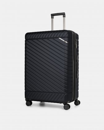 "MOSCOW -  30"" HARDSIDE CARRY-ON 100% POLYCARBONATE WITH TSA LOCK - NAVY Bugatti"