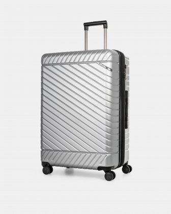 """MOSCOW -  30"""" HARDSIDE CARRY-ON 100% POLYCARBONATE WITH TSA LOCK - SILVER Bugatti"""