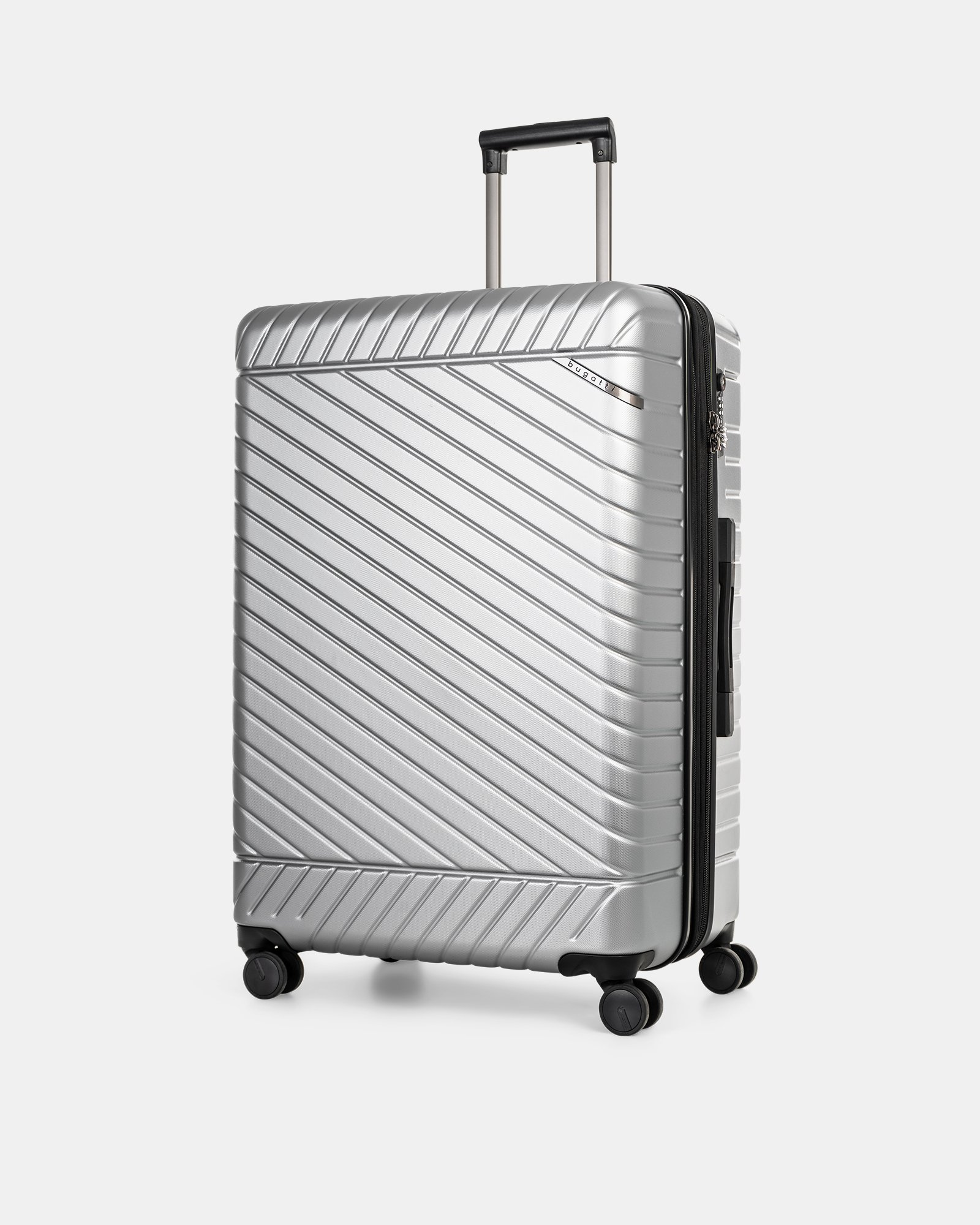 """MOSCOW -  30"""" HARDSIDE CARRY-ON 100% POLYCARBONATE WITH TSA LOCK - SILVER - Bugatti - Zoom"""