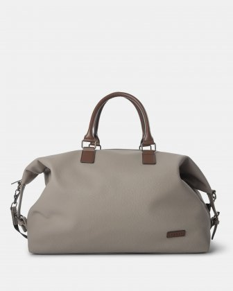 Contrast - Duffle Bag with Adjustable and removable shoulder strap - Grey Bugatti