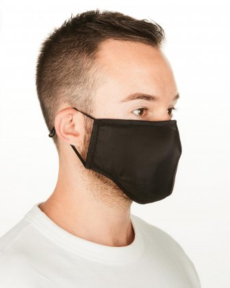 BUGATTI - 4 WASHABLE MASKS (3 PLY) + 2 (PM2.5) FILTERS ADULT SIZE - BLACK/PINK/BLUE Bugatti