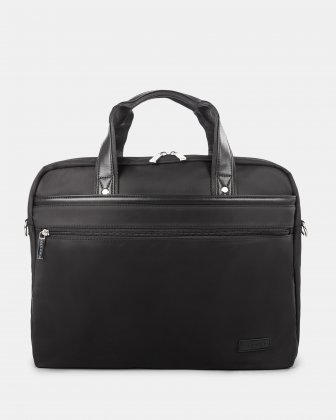 "Moretti - Briefcase with Padded laptop compartment – fits most 15.6"" - Black Bugatti"