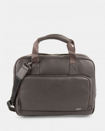 Executive Briefcase FOR 15.6 COMPUTER AND RFID PROTECTION - Stone  Bugatti