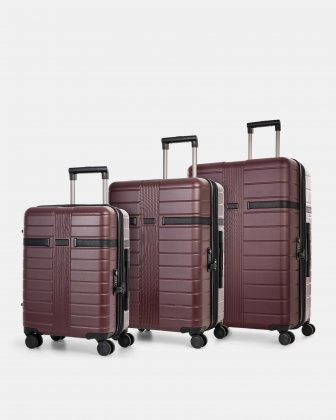 HAMBURG - 3-piece set with TSA combination lock - REDLACQUER - Bugatti