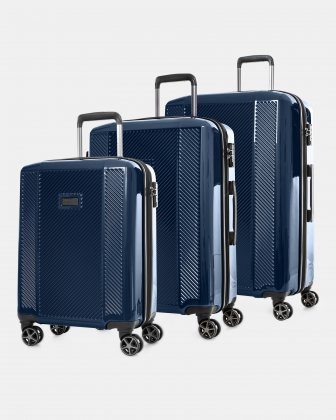 Manchester - 3-piece set with TSA lock - Navy Bugatti