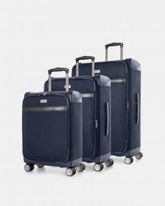 Bugatti WASHINGTON- HYBRID HARDSIDE/SOFTSIDE 3-PIECE SET - Navy