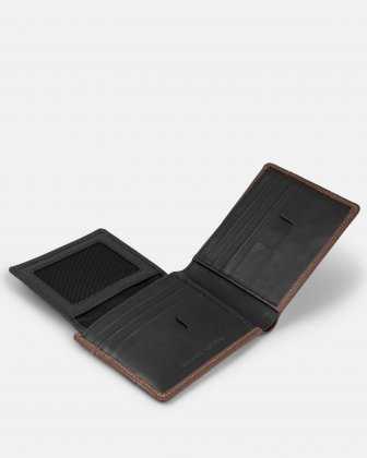 BUGATTI - LEATHER WALLET WITH RFID PROTECTION - BROWN Bugatti
