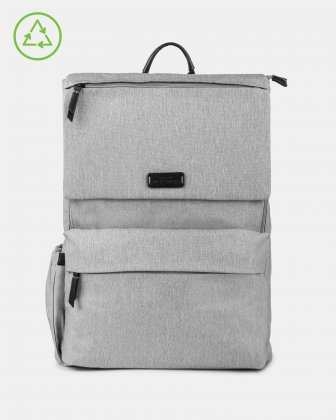 Bugatti – Reborn Collection – Lightweight Backpack – Made of 100% Recycled Material - GREY Bugatti