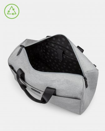 Bugatti – Reborn Collection – 2-in-1 Hybrid Duffle Bag – Made of 100% Recycled Material - grey - Bugatti
