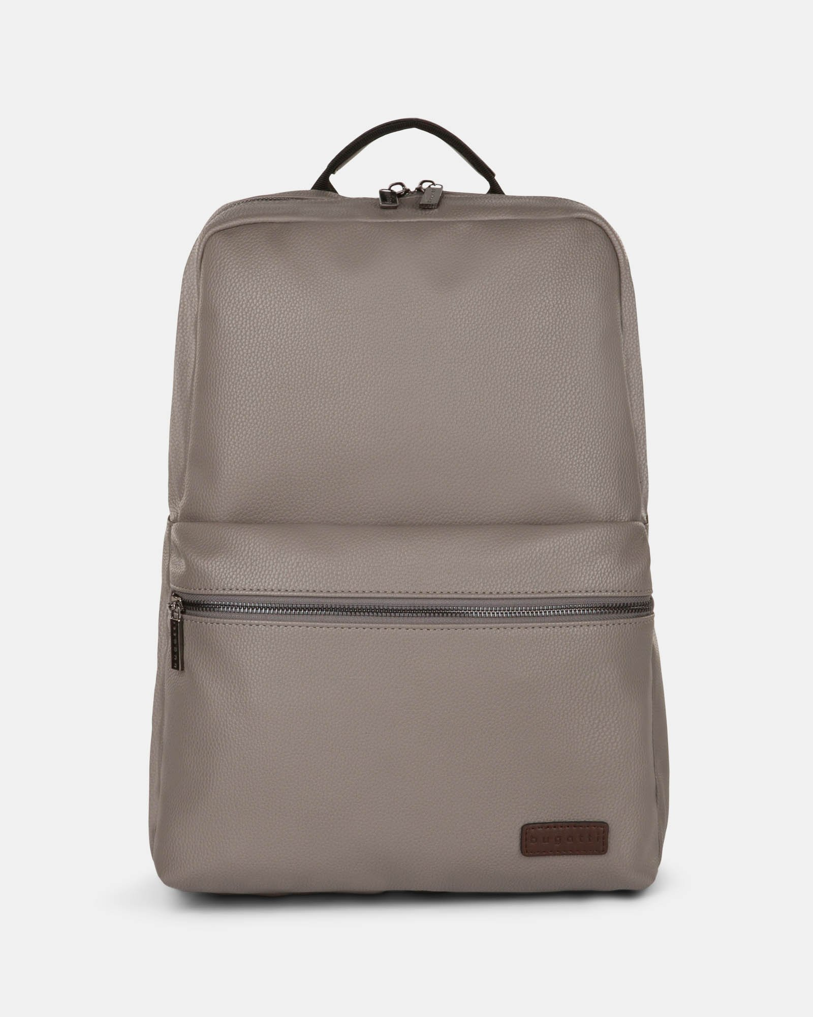 """CONTRAST - VEGAN LEATHER BACKPACK WITH PADDED LAPTOP SECTION - FITS MOST 14"""" - GREY - Bugatti - Zoom"""