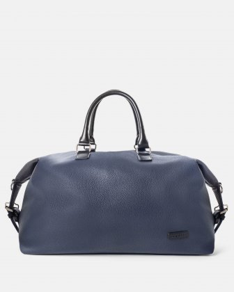 Contrast - Duffle Bag with Adjustable and removable shoulder strap - Navy Bugatti