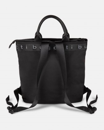 Tofino - Convertible Backpack/tote with Top zippered opening - Black  - Bugatti