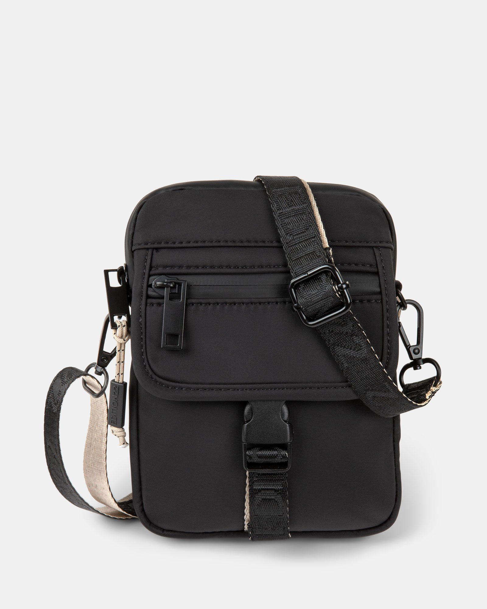 BUGATTI X EDITION22 - Crossbody that's both slim and functional, perfect for your small essentials items - Black - Bugatti - Zoom