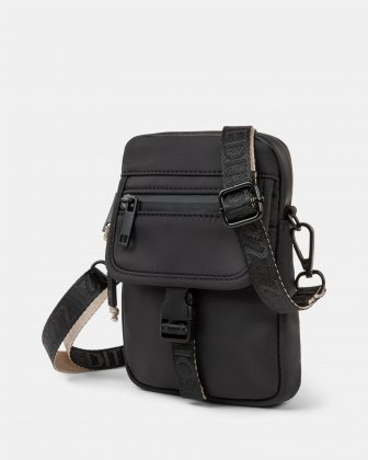 BUGATTI X EDITION22 - Crossbody that's both slim and functional, perfect for your small essentials items - Black - Bugatti